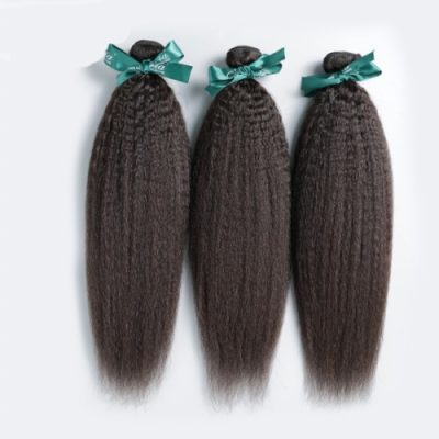 Brazilian virgin hair kinky straight bundle