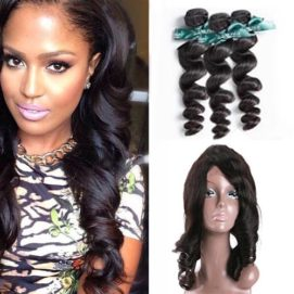 360 frontal loose wave