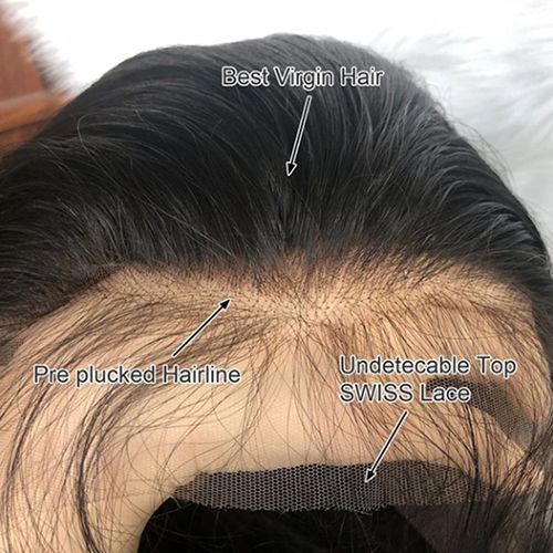 hd lace closure wig body wave